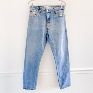 Re/Done Levis High Rise Distressed Boyfriend Jeans